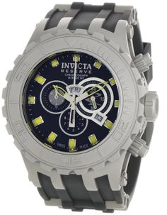 Invicta Mens 0801 Reserve Collection Subaqua Specialty Chronograph Black Polyurethane Watch *** Check out this great product.