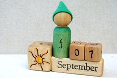Perpetual Waldorf Calendar-Days of the Week by knitcher on Etsy