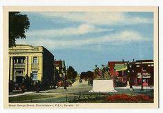 121512S Vintage Charlottetown PEI Canada Postcard Great George Street