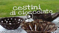 Cestini di cioccolato. Ricetta di BENEDETTA