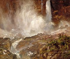 John Singer Sargent (1856-1925), Yoho Falls (1916), oil on canvas
