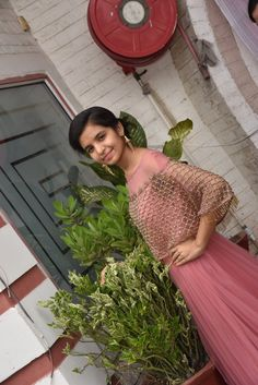 A gown – sangwanankita Cute Girl Dresses, Stylish Dresses For Girls, Stylish Girls Photos, Beautiful Girl Photo, Beautiful Girl Indian, Beautiful Moon, Cool Girl Pictures, Girl Photos, Face Pictures