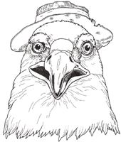 3 Little Dassies Character Masks the Eagle to color