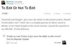 Should Twitter give users the ability to edit tweets? CNBC's @EliFromBrooklyn ponders. STORY: http://cnb.cx/HHHwdi