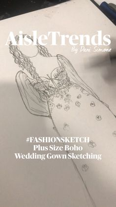 Boho Wedding Gown, Dream Wedding, Wedding Dresses, Fashion Design Sketchbook, Fashion Sketches, Wedding Dress Illustrations, Dress Sketches, Perfect Wedding Dress, Bridal Style