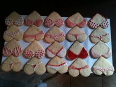 Bra and Panty decorated sugar cookies!