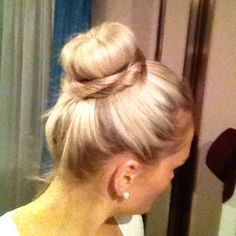 My first attempt at using a hair donut and I LOVE IT