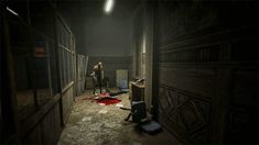 4. By placing players into the game avatar's shoes, game designers can more easily evoke a certain mood or emotion out of players.  Visual and aural perspective along with autonomy lend to horror games' effective buildup of suspense, thanks to immediacy.  In Outlast, visual cues such as the prevalence of shadows evokes uncertainty by obscuring vision.  Also, throughout the game, the player must hide from antagonists, who can be heard shuffling near the player, further adding to the tension.
