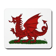 Red Dragon of Wales Mousepad on CafePress.com