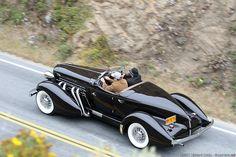 1936 Auburn 852 SC Boattail Speedster  Beautiful lines & exterior exhaust pipes.  True artistry of design.