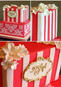 ► Pastel de boda inspirado en la primavera en Francia. #pasteles #bodas