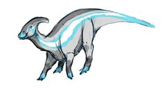 "birdologist: "" @a-dinosaur-a-day is doing a dinosaur pride event this month so here's a little parasaurolophus rocking some demiguy colors � Awww he/they are so cute!!!"