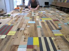 Duncan Johnson. My new body of work uses discarded wood gathered from landfills and construction sites in Vermont. They contain aspects of sculpture, drawing and painting referencing many of my interests from quilting to architecture.