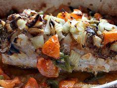 Receta Entrante : Lomo de cerdo breseado con salsa de yogur por Ana maría