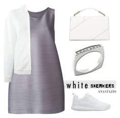 """Anastazio-Bright White Sneakers"" by anastazio-kotsopoulos ❤ liked on Polyvore featuring NIKE, Pleats Please by Issey Miyake, Jason Wu, STELLA McCARTNEY and Anastazio"