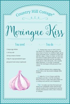 Learn our easy meringue kiss recipe! With a crackling crust and a soft gooey inside, meringue kiss are a delicious treat and also make a lovely gift. Mocha Cupcakes, Banana Cupcakes, Cupcake Cookies, Velvet Cupcakes, Vanilla Cupcakes, Gourmet Cupcakes, Strawberry Cupcakes, Merangue Recipe, Meringue Cookie Recipe
