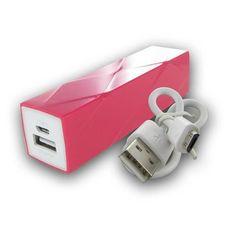 Pink Power Bank 3000 mAH