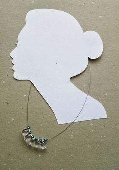 Glass Drops Necklace (Secret Garden) Drop Necklace, Washer Necklace, Glass, Garden, Handmade, Accessories, Jewelry, Garten, Hand Made