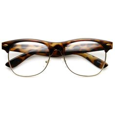 Classic Dapper Vintage Clear Lens Clubmaster Glasses 8770 ($9.99) ❤ liked on Polyvore featuring accessories, eyewear, eyeglasses, glasses, sunglasses, fillers, clear glasses, half frame wayfarer, vintage glasses and vintage wayfarer