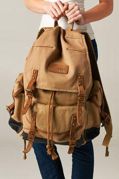Buckle Rucksack Backpack//