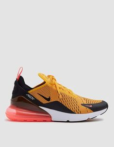 cheap for discount 470c9 88bd4 Air Max 270 Sneaker in Black University Gold-Hot Punch Beste Turnschuhe, Air
