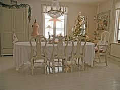 Love the glossy white painted floor