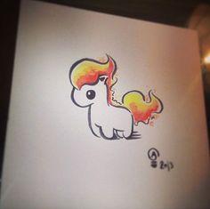 Chibi Pokemon Original print - Ponyta $18.00