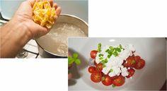 Receta de cocina: Farfalle con requesón