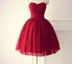 Imagen de dress and red