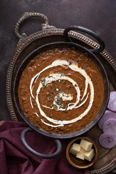 Tastiest and super easy Dal Makhani or Dal Makhni - A luscious creamy preparation of mix of whole black lentils and kidney beans in butter, mild spices and cream. It is an ultimate kali dal recipe from Punjabi cuisine that tastes exactly like dhabas or restaurants. Here is how to make best dal makhani recipe on stove top and instant pot pressure cooker step by step. Dal Makhani Recipe Slow Cooker, Makhani Recipes, Masala Recipe, Lentil Recipes, Veg Recipes, Indian Food Recipes, Cooking Recipes, Ethnic Recipes, Vegetarian Recipes