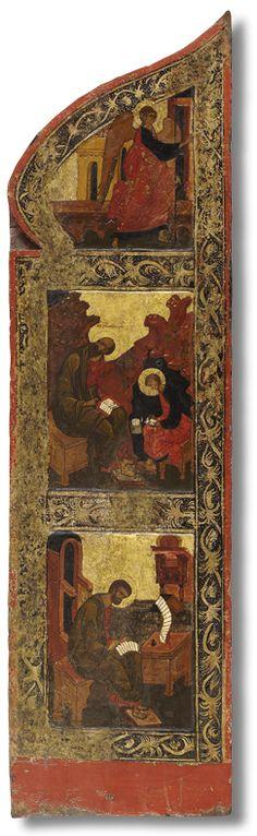 Царские врата (левая створка) Псков. Последняя треть XVI века