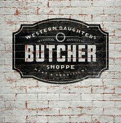 Modern Vintage Logo for Butcher Shop | Once New Vintage