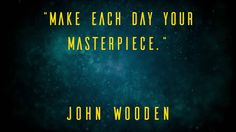 """Make each day your masterpiece."" John Wooden Checkout http://www.cardory.com #business #businesscard #technology #startup #eu #mobileapps #web #motiondesign #quote #technews #innovation #invention #entrepreneur #enterprise #digital #advertising"