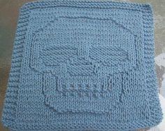 DigKnitty Designs: Just a Skull Knit Dishcloth Pattern