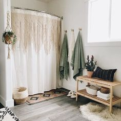 PILLOWS by KAE on Good news! I just got our hands on more beautiful spruce so we can offer Honeycomb Shelves again for everyone who didnt snag one. Honeycomb Shelves, Boho Bathroom, Bathroom Ideas, Bathroom Bench, Parisian Bathroom, Neutral Bathroom, Bling Bathroom, Bathroom Rugs, Small Bathroom