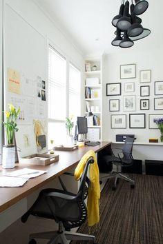 white walls, nice desk