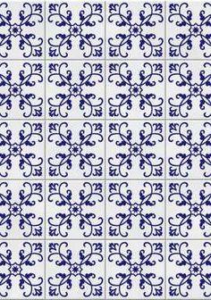 """""""Adesivo tipo azulejo Kit com 6 adesivos Azulejo Português"""""""
