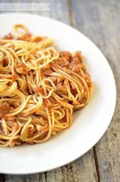 Pasta con berenjenas Relleno, Italian Recipes, Spaghetti, Lunch, Dinner, Ethnic Recipes, Food, Queso, Cilantro