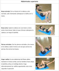 Abdominales superiores Fitbit, Exercises, Training, Gym, Workout, Fitness, Shape, Upper Abs, Stretches