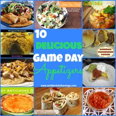 10 Easy Game Day Appetizers, easy super bowl appetizers or just for a fun party!  http://www.amittenfullofsavings.com/10-easy-game-day-appetizers/