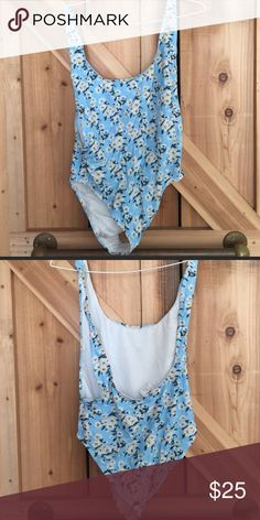 Motel rocks backless swimsuit Daisy one piece swimsuit with a low back and low sides. Only been tried on, never worn out Motel Rocks Swim One Pieces