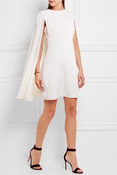 Valentino | Cape-back wool-crepe mini dress | NET-A-PORTER.COM