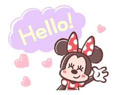LINE Official Stickers - Minnie Mouse: Pastel Prettiness Example with GIF Animation Vintage Mickey Mouse, Mickey Minnie Mouse, Disney Mickey, Emoji Happy Face, Minnie Mouse Pictures, Love Cartoon Couple, Disney Background, Mini Canvas Art, Cartoon Gifs