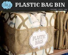 #DIY Plastic Bag #Storage Bin. Make a grocery bag holder-  Sohosonnet Creative Living