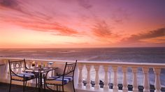 The Leopard Bar at the Twelve Apostles Hotel and Spa offers panoramic views of the Atlantic Ocean and splendid sunsets