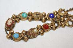 Goldette Victorian Slide Bracelet 1950s Jewelry by patwatty, $35.00