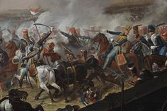 A detail from the painting: BATTLE OF WATERLOO by Denis Dighton (1792-1827), painting in the Cavalry Room at Plas Newydd, Anglesey -- Plas Newydd -- High quality art prints, canvases, postcards -- National Trust Prints