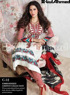 from Pakistani designer Gul Ahmed's Lawn Collection; http://www.gulahmedshop.com/