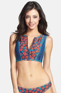 f612b2298b30e Swimsuits · MARC BY MARC JACOBS 'Maysie Floral' Cropped Scuba Swim Top |  Nordstrom Floral Bikini