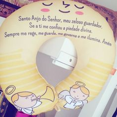 Almofada para Pescoço Infantil Santo Anjo.  Santo... -  Almofada para Pescoço Infantil Santo Anjo.   Santo Anjo do Senhor meu zeloso guardador Se a ti me confiou a piedade divina. sempre me rege me guarda me governa e me ilumina Amém.  #anjodaguarda #santoanjodosenhor #meueternoanj #filho #filhos #bebe #baby #nenem #universomaterno #mundodemaes #universopaterno #maedeprincesa #paideprincesa #maedemenino #maedemenina #babysroom  Enviamos para todo o Brasil faça o pedido pelo Whatsapp…
